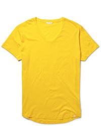 senf T-Shirt mit einem Rundhalsausschnitt von Orlebar Brown