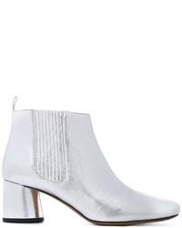 silberne Chelsea-Stiefel von Marc Jacobs