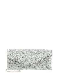 silberne Clutch von L.Credi