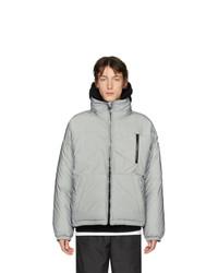 silberne Daunenjacke von Givenchy