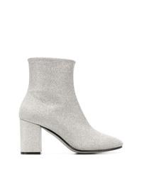 silberne elastische Stiefeletten von Balenciaga
