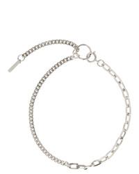 silberne enge Halskette von Justine Clenquet
