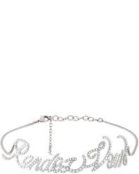 silberne enge Halskette von Saint Laurent