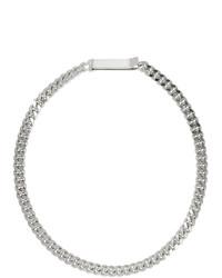 silberne enge Halskette von Saskia Diez