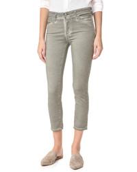silberne enge Hose von AG Jeans