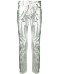 silberne enge Jeans von DSQUARED2