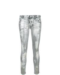 Modische silberne Jeans für Damen für Winter 2019 kaufen   Damenmode e9bc6a2cc4