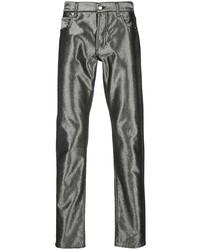 silberne Jeans von Alexander McQueen