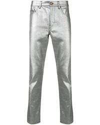 silberne Jeans von Saint Laurent