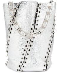 silberne Leder Beuteltasche von Proenza Schouler