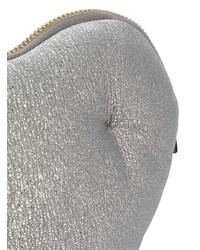 silberne Leder Clutch von Anya Hindmarch