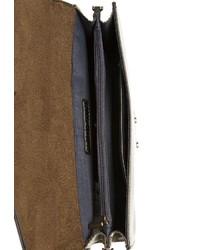 silberne Leder Clutch von EMILY & NOAH