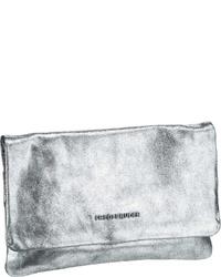 silberne Leder Clutch von FREDsBRUDER
