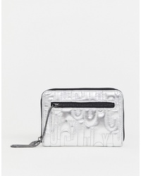 silberne Leder Clutch von Juicy Couture
