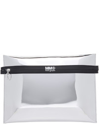 silberne Leder Clutch von Maison Margiela