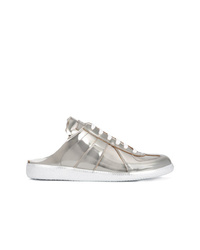 silberne Leder niedrige Sneakers von Maison Margiela