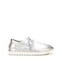 silberne Leder niedrige Sneakers von Marsèll