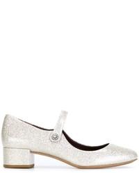 Silberne Leder Pumps von Marc Jacobs