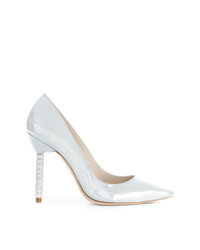 silberne Leder Pumps von Sophia Webster