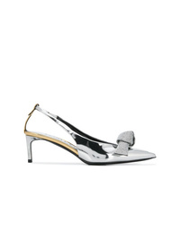 silberne Leder Pumps von Tom Ford