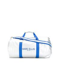 silberne Leder Reisetasche