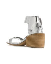 silberne Leder Sandaletten von Marsèll