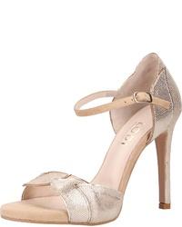 silberne Leder Sandaletten von Lodi