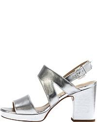 silberne Leder Sandaletten von PoiLei