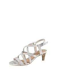 silberne Leder Sandaletten von s.Oliver