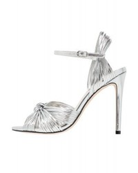Silberne Leder Sandaletten von Steve Madden