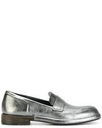 silberne Leder Slipper von Roberto Del Carlo