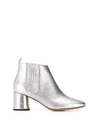 silberne Leder Stiefeletten von Marc Jacobs