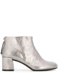 Silberne Leder Stiefeletten von McQ by Alexander McQueen