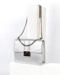 silberne Leder Umhängetasche von Seidenfelt