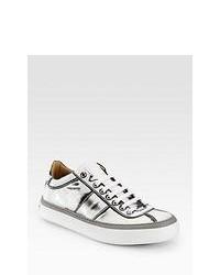 silberne Niedrige Sneakers
