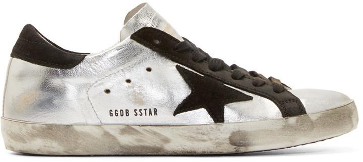 silberne niedrige Sneakers von Golden Goose Deluxe Brand