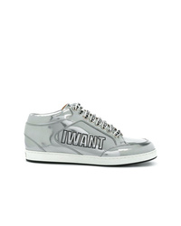 silberne niedrige Sneakers von Jimmy Choo
