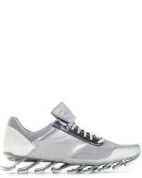 silberne niedrige Sneakers von Rick Owens