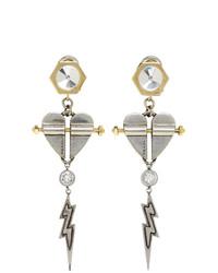 silberne Ohrringe von Prada