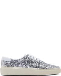 silberne Paillette niedrige Sneakers