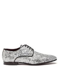silberne Pailletten Derby Schuhe von Dolce & Gabbana