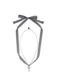 silberne Perlenkette von Miu Miu