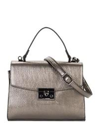 silberne Satchel-Tasche aus Leder von EMILY & NOAH