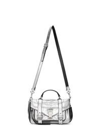 silberne Satchel-Tasche aus Leder von Proenza Schouler