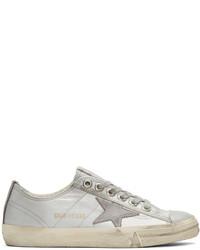silberne Segeltuch niedrige Sneakers von Golden Goose Deluxe Brand