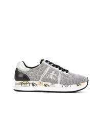 silberne Segeltuch niedrige Sneakers von Premiata