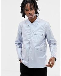 silberne Shirtjacke von ASOS DESIGN