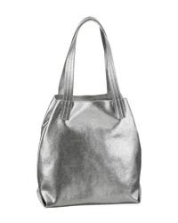 silberne Shopper Tasche aus Leder von Buffalo