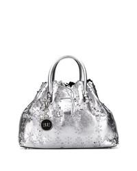 silberne Shopper Tasche aus Leder von Ermanno Scervino