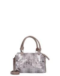 silberne Shopper Tasche aus Leder von Fritzi aus Preußen